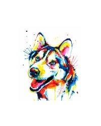 """Картины по номерам """"Разноцветный щенок"""", 30x40 см"""