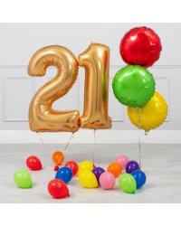 21-ЛЕТНИЙ ЮБИЛЕЙ ЗОЛОТОЙ И РАДУЖНЫЙ МИНИ-ПАКЕТ