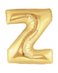 Шарик воздушный буква z цвет золото