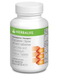 Желтые таблетки Термоджестик на растительной основе