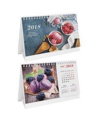 """Календарь-домик """"Сладкая жизнь"""", 160x130 мм, на гребне, на 2018 год"""