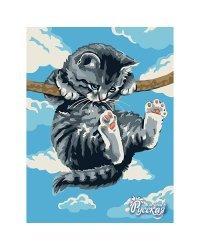 """Набор для рисования по номерам """"Котёнок на ветке"""", 30x40 см, арт. KA021"""