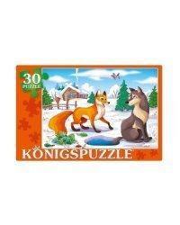 """Пазлы """"Konigspuzzle. Лисичка-сестричка и серый волк"""", 30 элементов"""