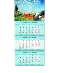 Импрессионизм. Календарь настенный квартальный трехблочный на 2019 год