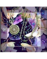 """Алмазные часы """"Время цветов"""", 30x30 см"""
