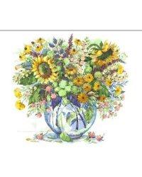 """Картины по номерам """"Подсолнухи в вазе"""", 40x50 см"""