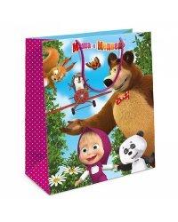 """Пакет подарочный """"Маша и Медведь"""", 18x10x23 см"""
