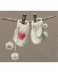 "Набор для вышивания Panna ""Варежки"", арт. ZM-7068 (ЗМ-7068), 18.5x16 см"