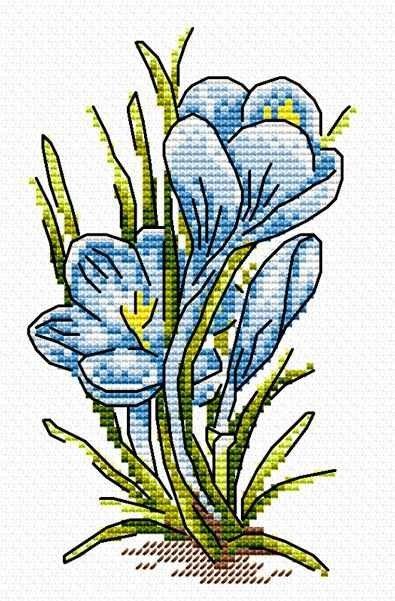 """Набор для вышивания крестом Жар-Птица """"Нотка лета"""", 10x15 см, арт. М-009"""