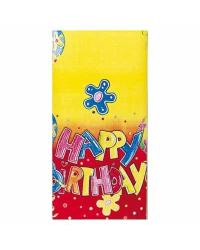 Скатерть 120x180cm С днем рождения