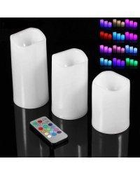 Светодиодные свечи с контролируемым пультом дистанционного управления