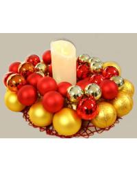 Светодиодная свеча из воска L 19 * 8 см Предложение -30%