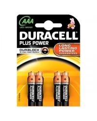 Батареи Duracell Plus AAA-B4 / LR03 (BL-4)