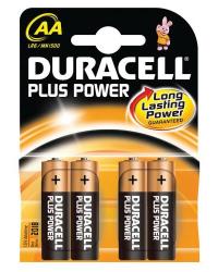 Батареи Duracell Plus AA-B4 / LR6 (BL-4)
