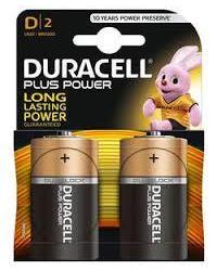 Батареи Duracell Plus D-B2 / LR20 (BL-2)