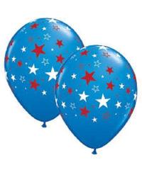 Воздушные шары COL. со звездами 6GB