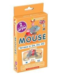 Английский язык. Мышонок (Mouse). Читаем U, OA, OU, OO. Level 3. Набор карточек