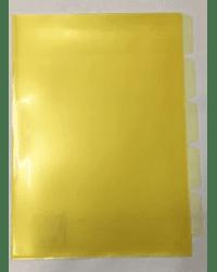 """Папка уголок """"Basic """", 5 отделений, А4, желтая"""