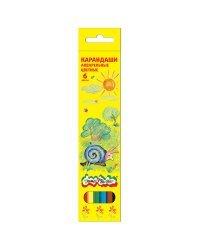 Карандаши цветные акварельные Каляка-Маляка шестигранные с заточкой (6 цветов)