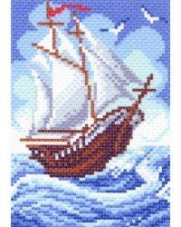 """Набор для вышивки крестом """"Рисунок на канве. Кораблик"""""""
