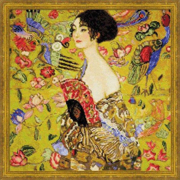 """Набор для вышивания """"Дама с веером"""", по мотивам картины Г. Климта"""