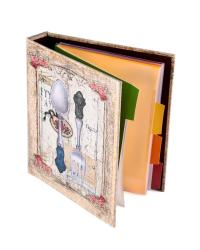 Книга для записи кулинарных рецептов, 18x23x4 см