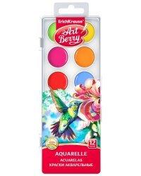 """Краски акварельные """"Artberry"""", 12 цветов, с УФ защитой яркости"""