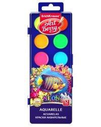 Акварель Artberry Неон, с УФ защитой яркости, 12 цветов