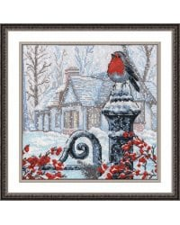 """Набор для вышивания крестом """"Рождественское утро"""", 25x25 см"""