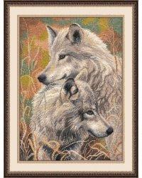 """Набор для вышивания крестом """"Волчья верность"""", 30x40 см"""