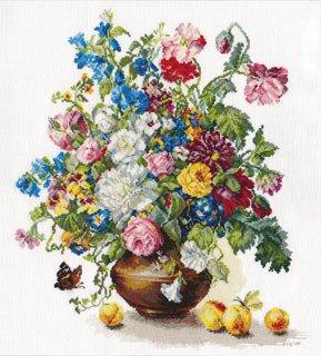 """Набор для вышивания крестом """"Поэзия цветов: Благоухание лета"""", арт. 2-23"""