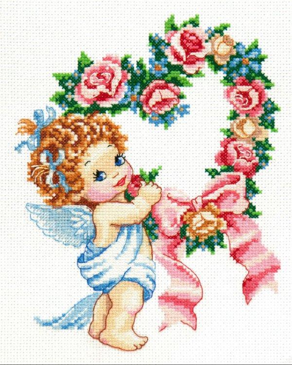 """Набор для вышивания крестом """"С Днем всех влюбленных!"""", 16x21 см, арт. 35-15"""