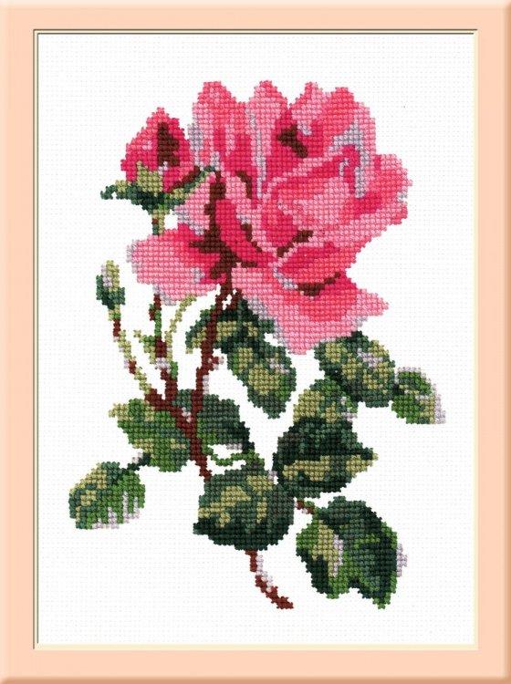 """Набор для вышивания """"Роза розовая"""", 20x14 см, арт. С031Н"""