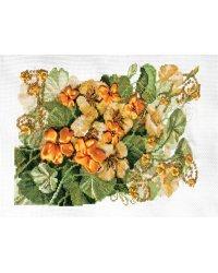 """Набор для вышивания Panna """"Настурция"""", арт. Ц-1202, 27х18 см"""