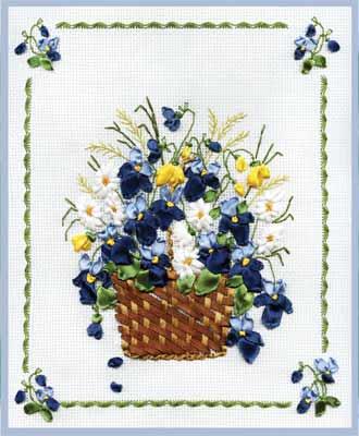 """Набор для вышивания Panna """"Корзина с фиалками"""", арт. Ц-0661, 23х26 см"""