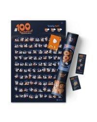 "Интерактивный скретч постер ""#100 Bucketlist kamasutra edition"""