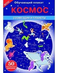 """Обучающий плакат """"Космос. Созвездия и планеты"""""""