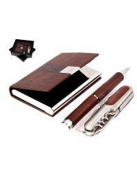 Подарочный набор: визитница, ручка, нож складной, арт. 46051