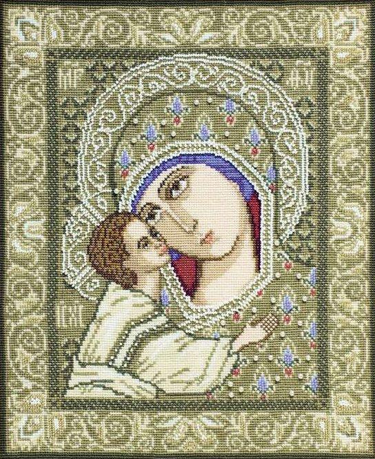 """Набор для вышивания крестом Риолис """"Богоматерь Игоревская"""", 29x35 см, арт. 829"""
