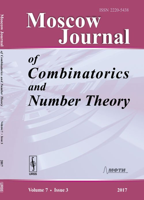 Moscow Journal of Combinatorics and Number Theory. Volume 7. Issue 3