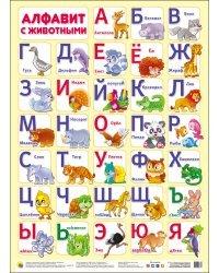 Плакат. Алфавит с животными
