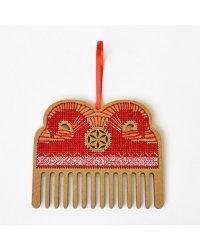 """Набор для вышивания крестом """"Символ солнца. Гребешок от сглаза"""", 8x9 см (арт. О-100)"""
