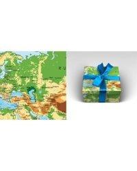 """Бумага упаковочная """"Карта мира"""", 70x100 см, 10 листов"""