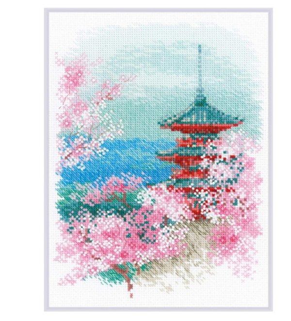 """Набор для вышивки крестом """"Сакура. Пагода"""", 18x24 см"""