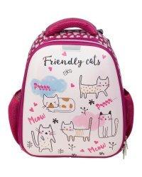 "Ранец ""Friendly cats"", 360х280х150 мм"