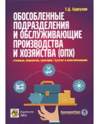 Обособленные подразделения и обслуживающие производства и хозяйства (ОПХ): столовые, общежития, санатории и другие непроизводственные подразделения/бухучет и налогообложение