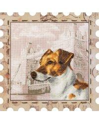 """Набор для вышивания нитками на канве с рисунком Нова Слобода """"Марка. Джек"""", 24x24 см, арт. КО4022"""