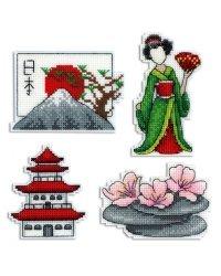 """Набор для вышивания крестом на пластиковой канве Жар-Птица """"Япония. Магниты"""", арт. Р-336"""