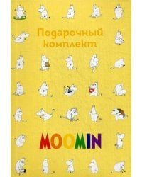 Moomin. Подарочный комплект: магнитные закладки, чехол для карточек, наклейки, ежедневник