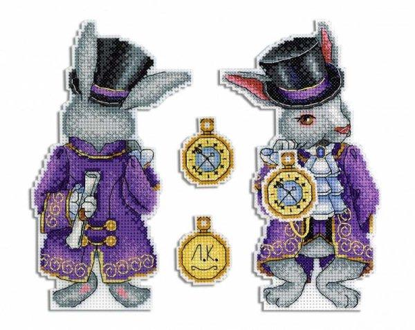 """Набор для вышивания крестом на пластиковой канве Жар-Птица """"Чудесный кролик"""", 17x10 см, арт. Р-347"""